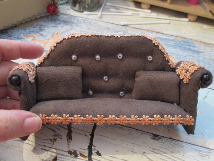 Sofa/Settee TEMPLATE Only - Use with 2mm Chipboard or Corrugated Card