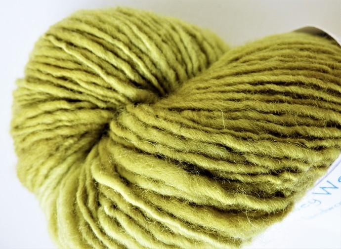 Handspun Yarn Natural / Eco Dyed with Privet – 100% Organic Merino – 52 grams –