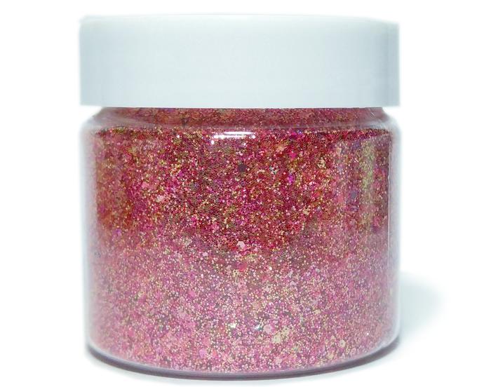 Pink Stiletto Heels - Metallic Chunky Loose Glitter Mix