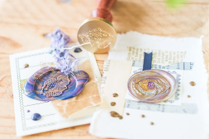 London Gifties wax seal - Sleepy Fish - perfect as a gift for yourself & your