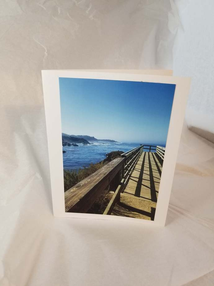 Greeting Card * Personalized Text * West Coast * Ocean * Photo Card * Blank Card