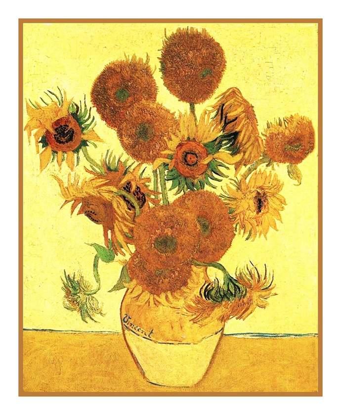 Digital DOWNLOAD Vincent Van Gogh Impressionist Vase of Sunflowers Orenco