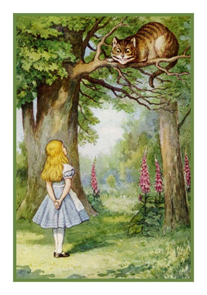 Digital DOWNLOAD Alice and the Cheshire Cat  from Alice in Wonderland Orenco