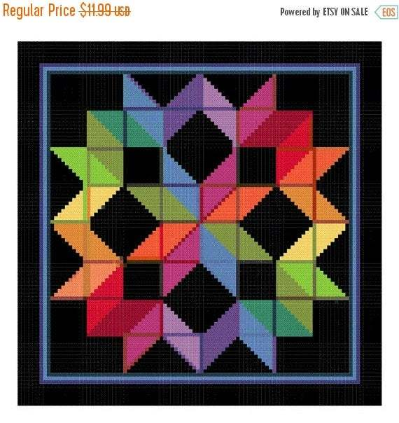 DIGITAL DOWNLOAD Carpenters Wheel inspired by an Amish Quilt Orenco Originals