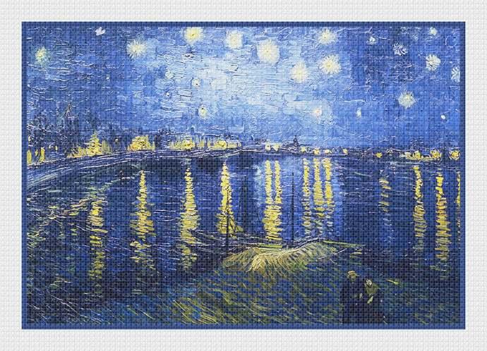 Digital DOWNLOAD Vincent Van Gogh Impressionist Starry Starry Night over the