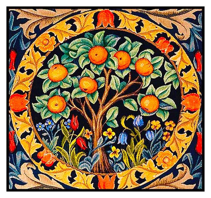 DIGITAL DOWNLOAD William Morris's Orange Tree detail Orenco Originals Counted