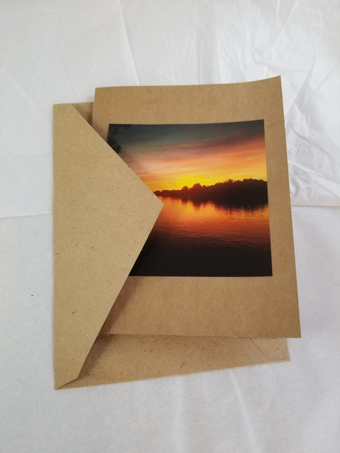 Greeting Card * Personalized Text * Sunset * Photo Card * Blank Card
