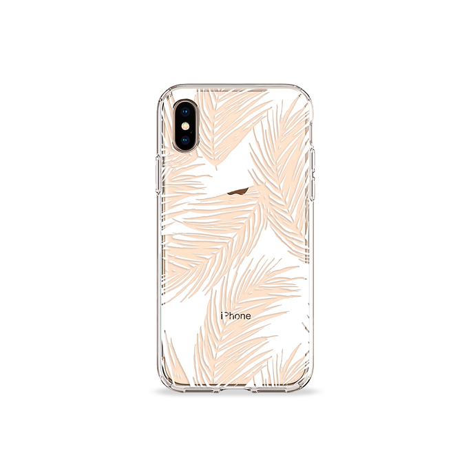 Load image into Gallery viewer, White Palms Clear iPhone Case - bycsera Load