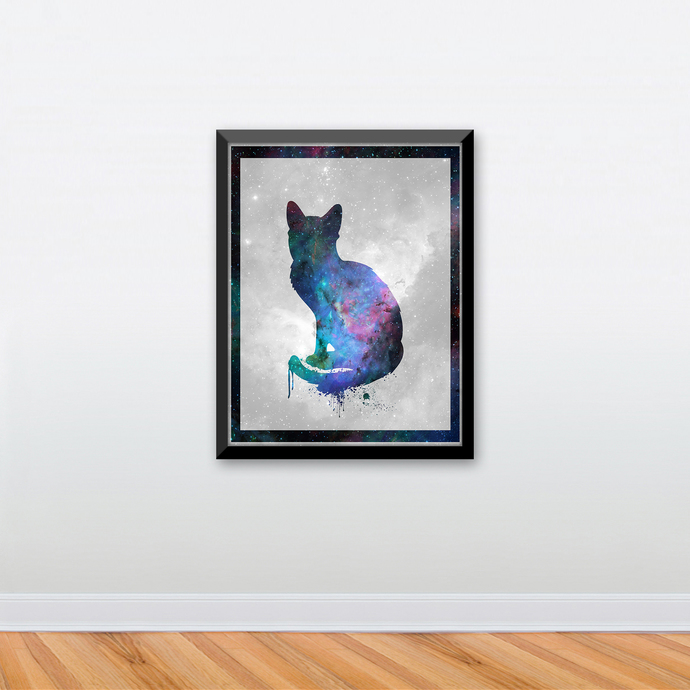"Cat - Spirit Animal - Art Print - 8.5"" x 11"" - Custom Sizes Available"