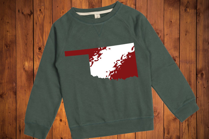 Oklahoma svg, Ombre Crimson and Cream, Oklahoma Clip Art, svg, dxf, png, Cut