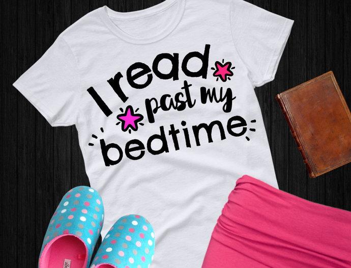 Reading svg, I Read Past My Bedtime svg, Book svg, Read clip art, svg, dxf, png