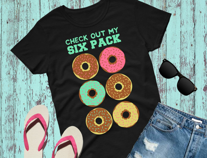 Donut svg, Doughnut svg, Check Out My Six Pack, Funny svg, Donut clip art,
