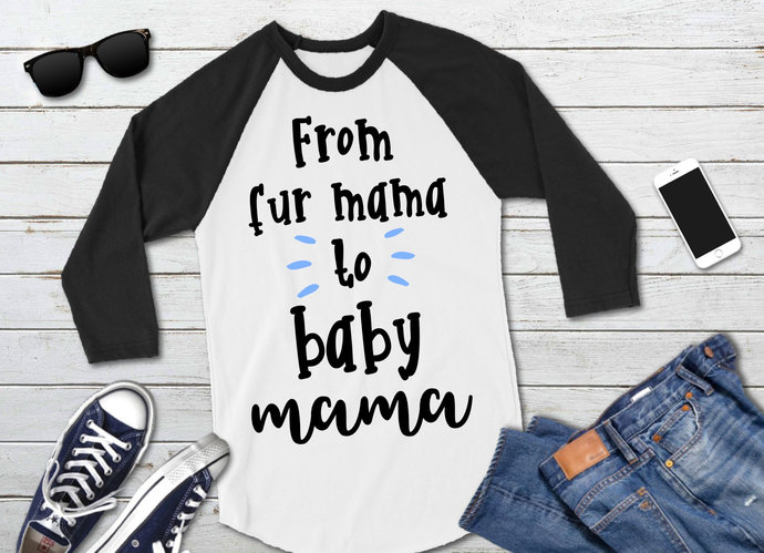 From Fur Mama to Baby Mama svg, Dog Mom, Clip Art, svg, dxf, png, Cut Files