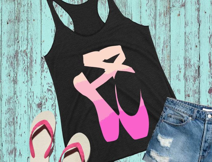 Ballet svg, Ombre Ballet Shoes clip art, svg, dxf, png Cut files