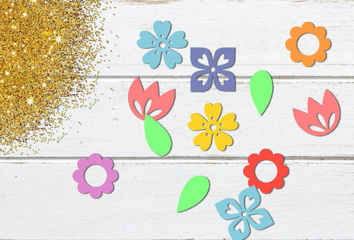 Flower Confetti svg, Printable Spring Flower Confetti, Tulip, svg, dxf, png, Cut