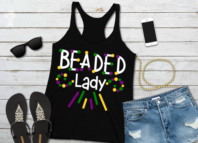 Beaded Lady svg, Mardi Gras Clip Art, NOLA, svg, dxf, png, Cut Files