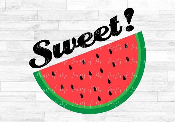 Watermelon svg, Sweet!, Watermelon clip art, svg, dxf, png Cut files