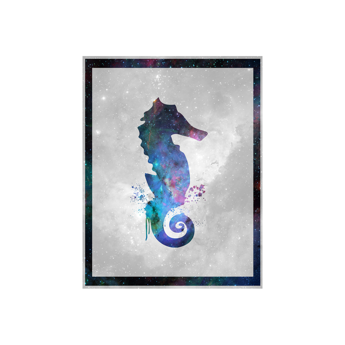 "Seahorse - Spirit Animal - Art Print - 8.5"" x 11"" - Custom Sizes Available"