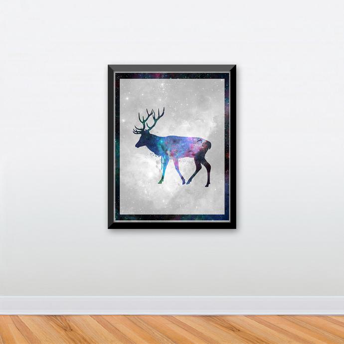 "Stag - Spirit Animal - Art Print - 8.5"" x 11"" - Custom Sizes Available"