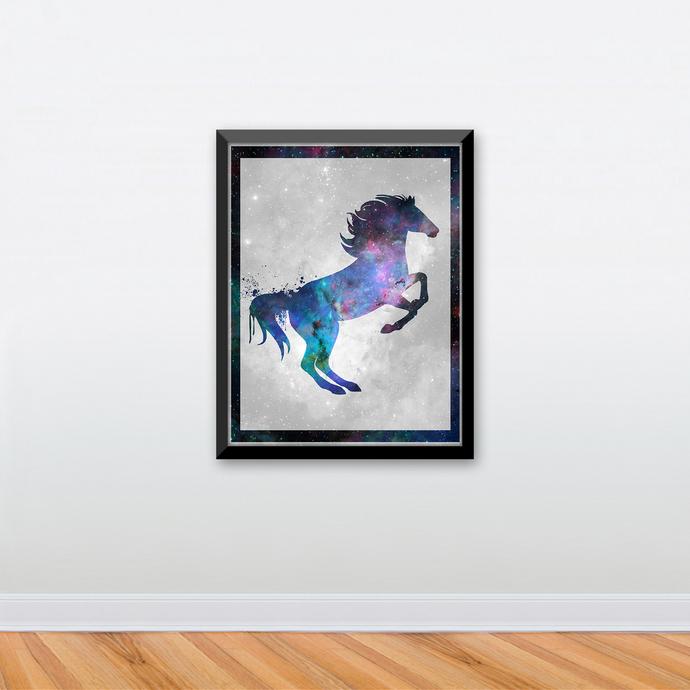 "Stallion - Spirit Animal - Art Print - 8.5"" x 11"" - Custom Sizes Available"