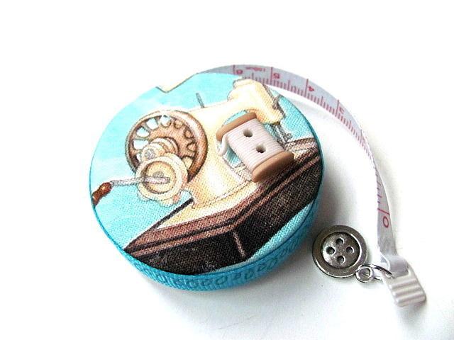 Measuring Tape Vintage Sewing Machines RetractableTape Measure