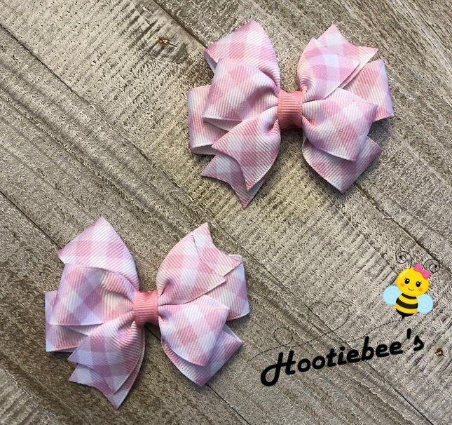 Pastel Plaid Toddler Hair Bow Set (4 Colors Available)