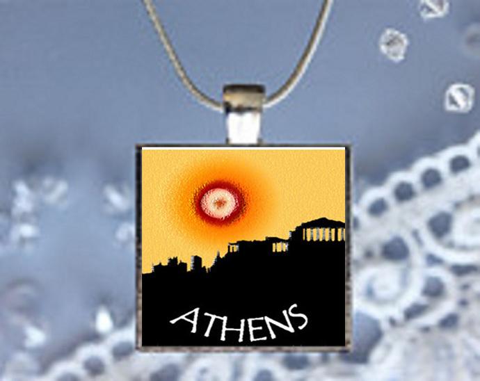 Pendant Necklace City Skylines Athens
