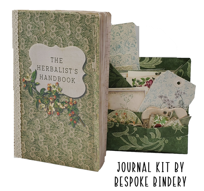 The Herbalist Handbook Journal Kit: Comes with an 80 page premade journal and