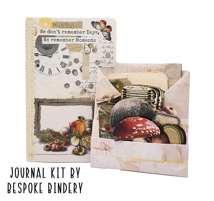 Autumn, Fall Journal Kit: Comes with an 80 page premade journal and ephemera