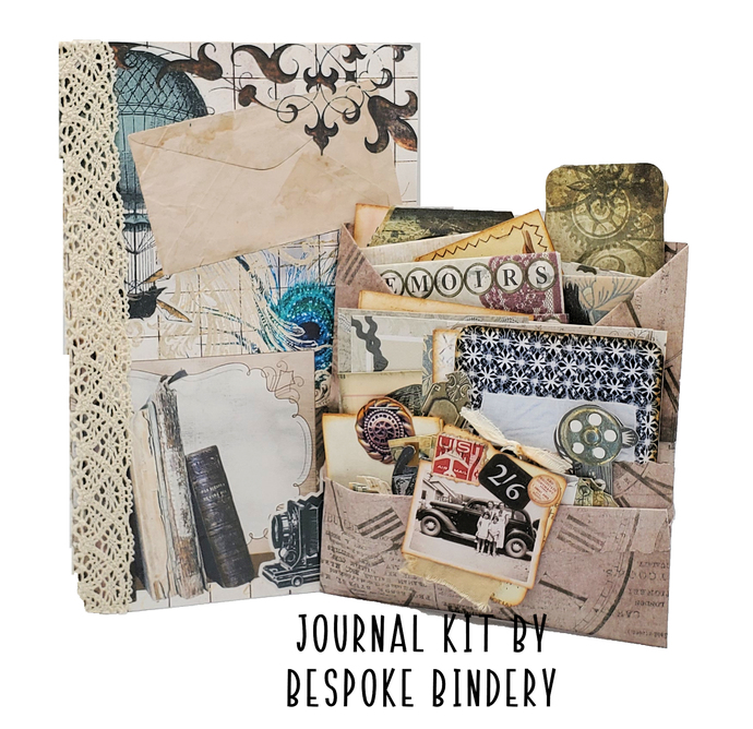 Almost Steampunk Journal Kit: Comes with an 80 page premade journal and ephemera