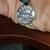 Semi-precious Blue Chrysocolla Libra Charm Bracelet