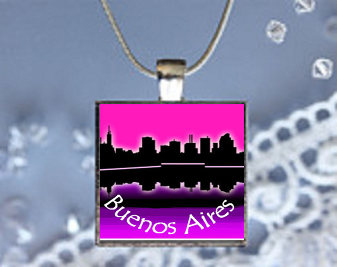Pendant Necklace City Skylines Buenos Aires