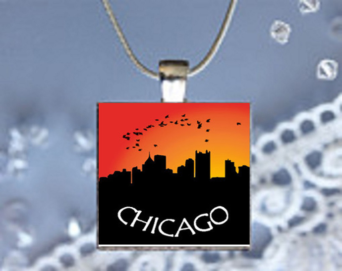 Pendant Necklace City Skylines Chicago