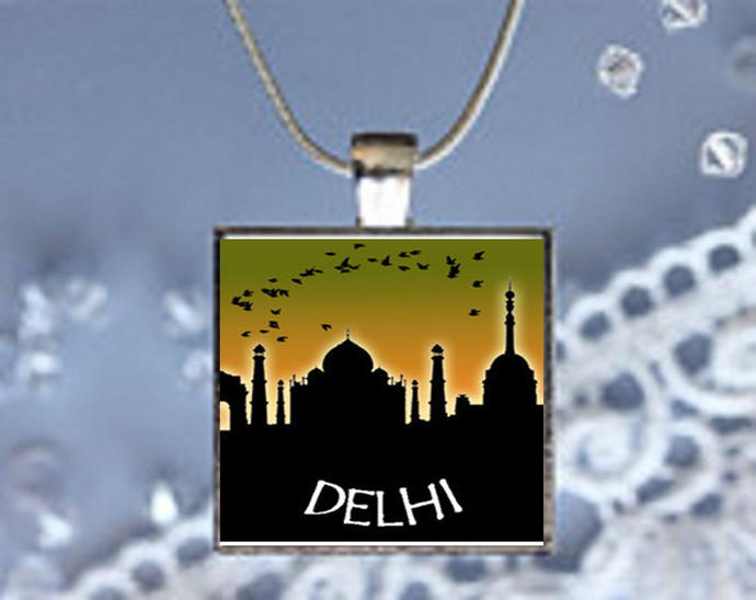 Pendant Necklace City Skylines Delhi