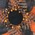 Halloween Sunflower Wreath, UITC wreath, Orange Black Sunflower, Fall wreath,