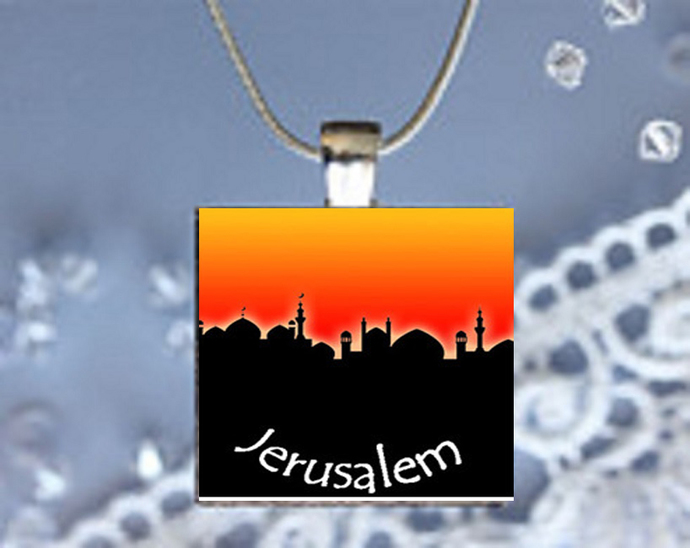 Pendant Necklace City Skylines Jerusalem