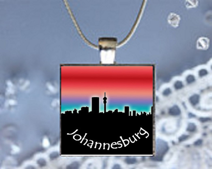 Pendant Necklace City Skylines Johannesburg