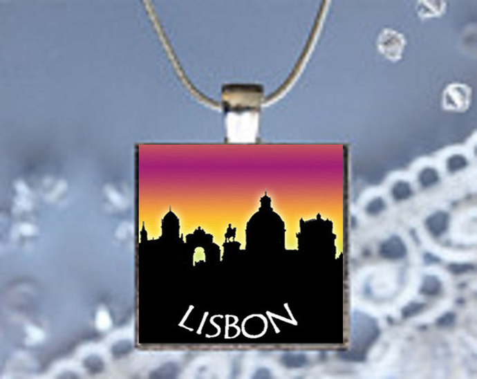 Pendant Necklace City Skylines Lisbon