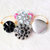 Wineglass or Stemware Charms, All Occasion, with Buttons and Beads in Black and