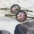 Metal hair slide, vintage hair accessories, pressed flowers inside hair pin,