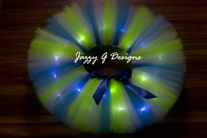Mermaid Dreams LED Light Up Tutu - Rave Tutu - Adult Tutu - Light up Tutu