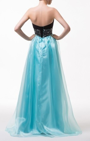 Charming Sweetheart Tulle Long Prom Dress, Beaded Homecoming Dress