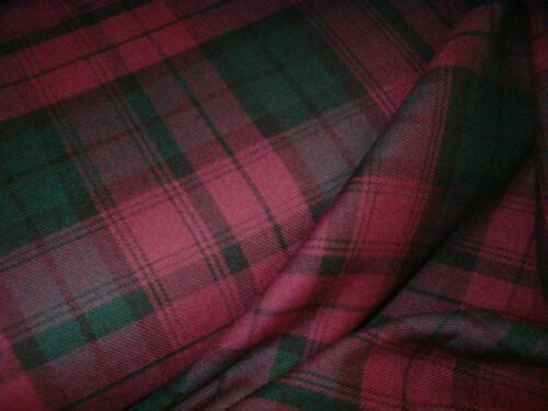 1 x Fat Quarter - Purple/Green Genuine Scottish Tartan Fabric
