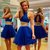 Royal Blue Tulle Short Homecoming Dress, Beaded Two Piece Prom Dress