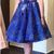Royal Blue Appliques Lace Knee Length Homecoming Dress, Short Homecoming Dresses