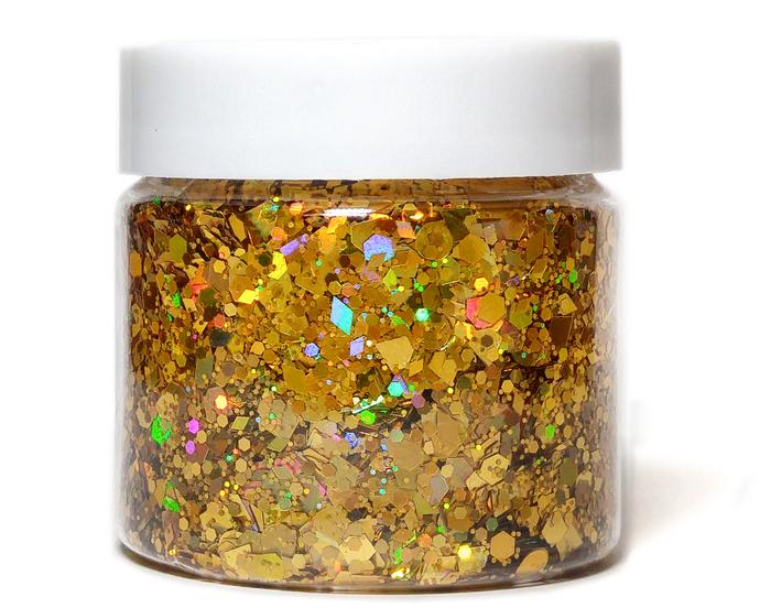 24 Karat - Chunky Gold Holographic Glitter Mix