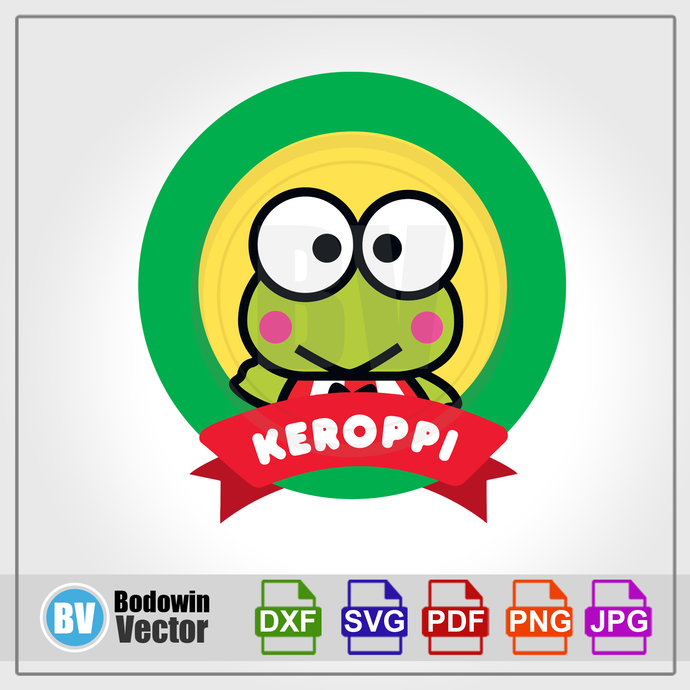 Keroppi SVG - Hello Kitty / Instant Download / Digital Clipart / Cutting Files /