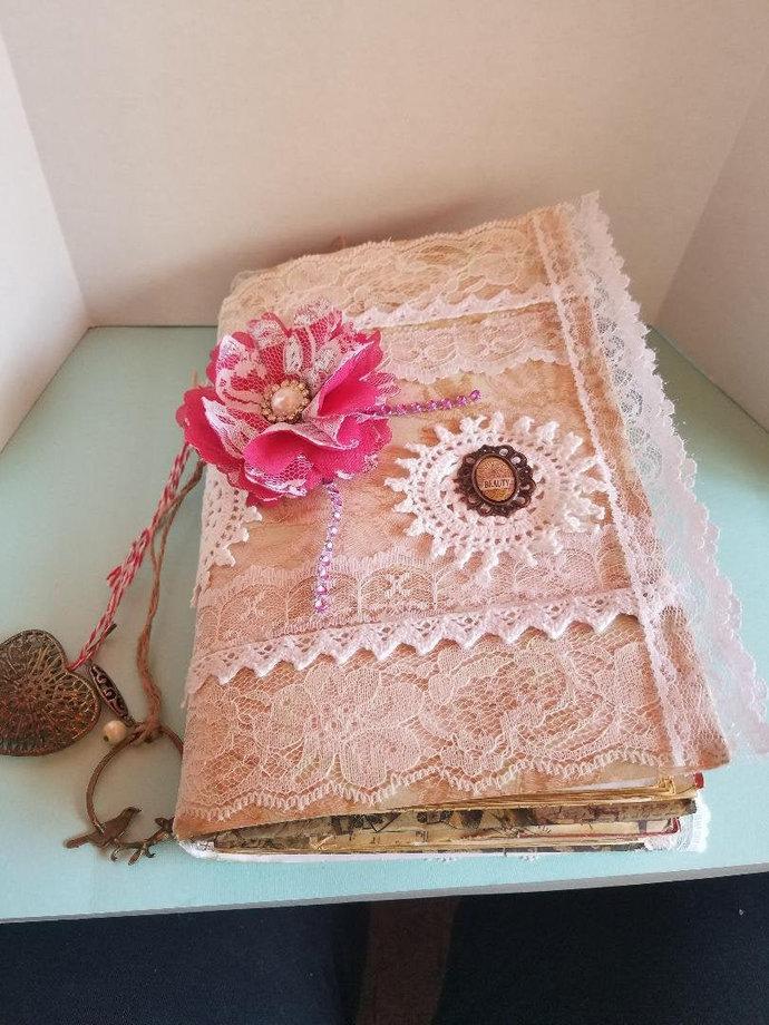 Handmade, Antiqued Junk Journal,