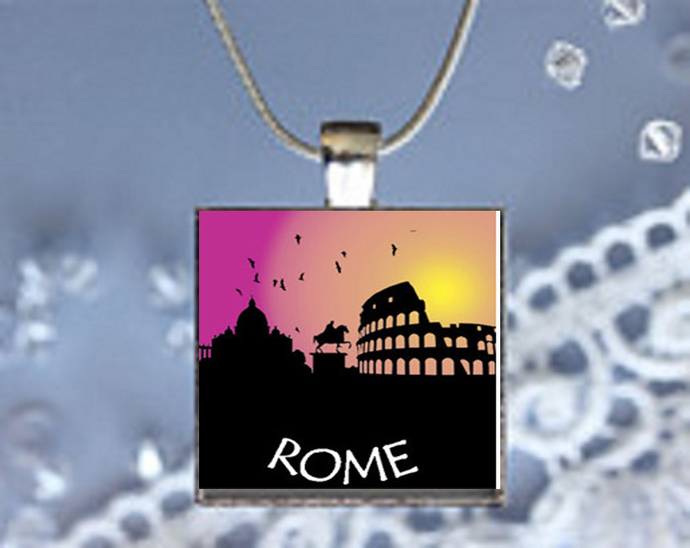 Pendant Necklace City Skylines Rome