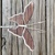 Spring mauve pink butterfly plant stake stained glass 3d handmade plant poke
